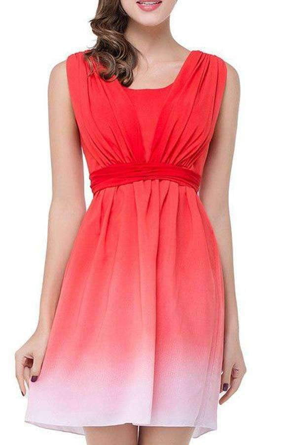 A Line Sleeveless Mid Back Short Prom Dress,Homecoming Dress O01