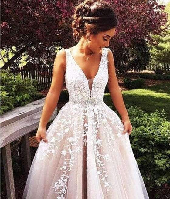 Long Custom A-line Newest Charming Applique Prom Dress,PD0055
