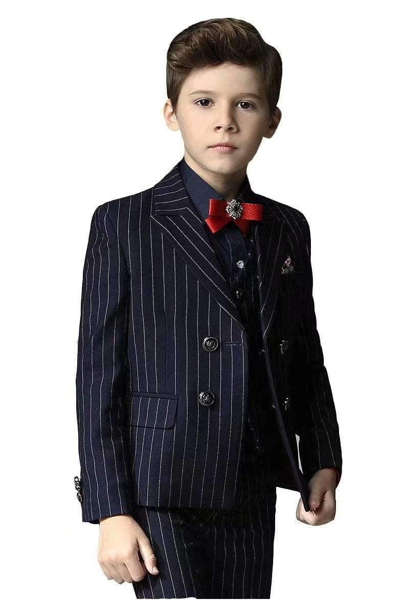 Boys Formal Suits Silm Fit Dresswear Boy Suit with Blazer Pants Shirt and Bow Tie