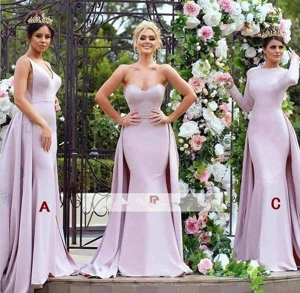 Cheap Bridesmaid Dresses Mermaid Sweetheart Long Wedding Party Dresses For Women
