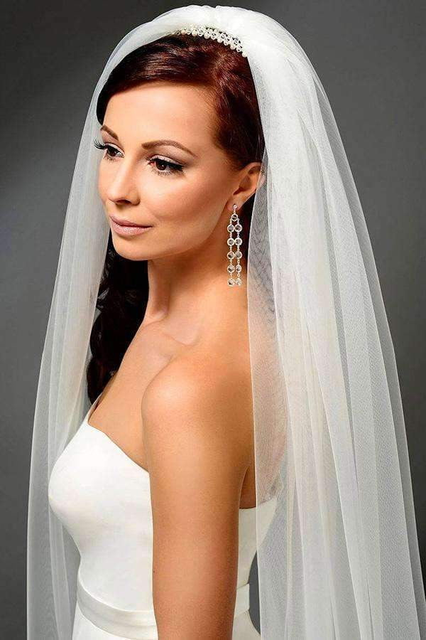 Chic Two-tayer Long Chapel Veils Wedding Veils V29