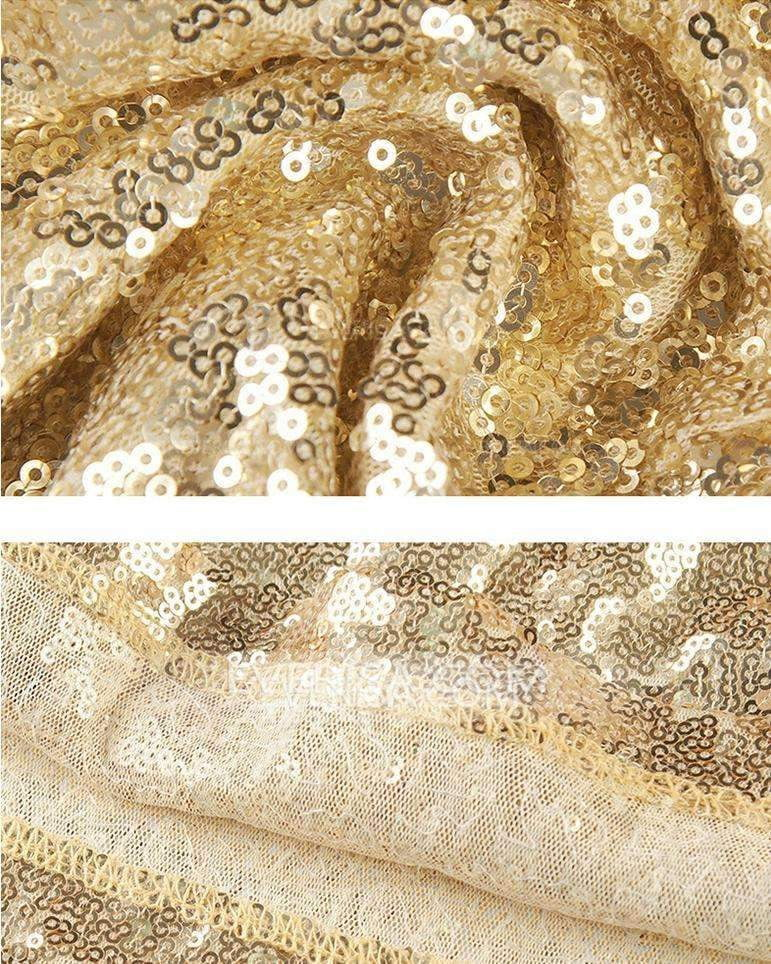 Gold One Shoulder Sleeveless Sequin Bridesmaid Dresses Cheap Prom Dresses