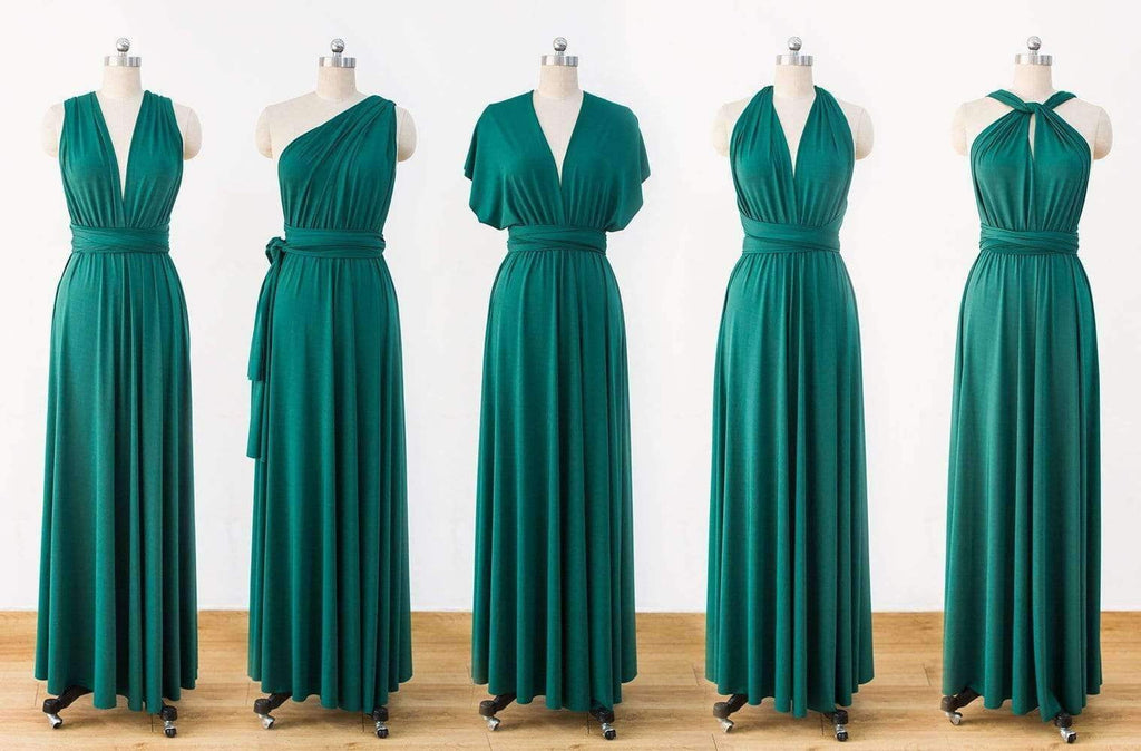 Green Infinity Dress,Multiway Wrap Bridesmaid Dress,Convertable Dress