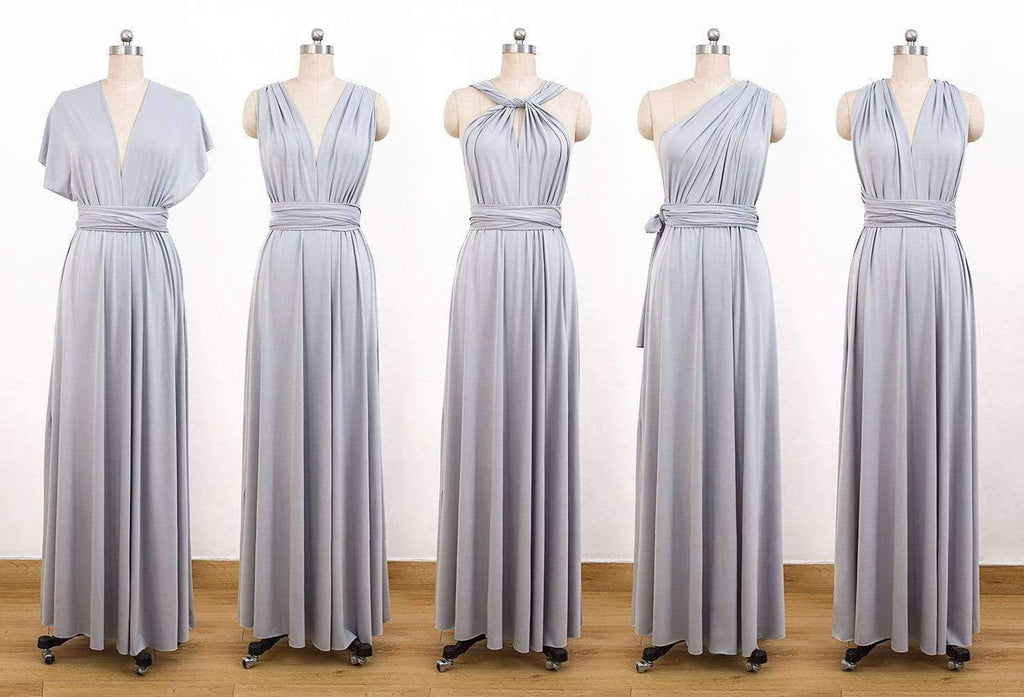 Grey Convertable Dress,Multiway Wrap Dress,Infinity Bridesmaids Dress