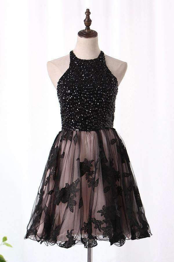 Impressive A-line With Sequins Knee Length Homecoming Dress M482