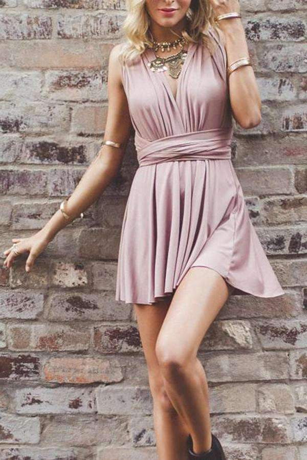 Marvelous Chiffon Halter Neckline A-line Homecoming Dresses M451