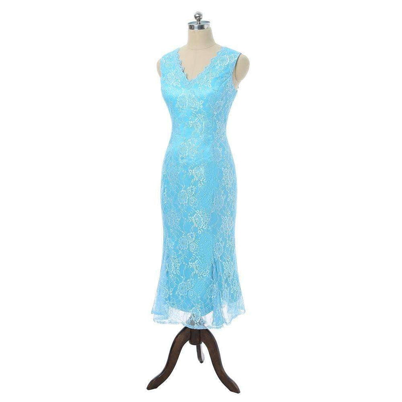 Mermaid Tea Length Lace With Jacket Plus Size Groom Mother Dresses For Weddings
