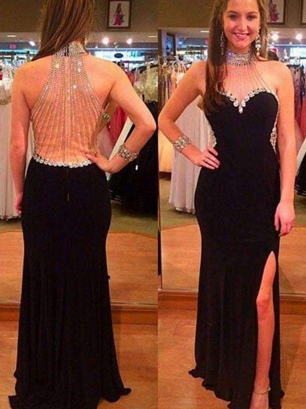 New Arrival Beaded Sparkly Black Hater Charming For Evening Part Prom Gown Dresses. PD0212