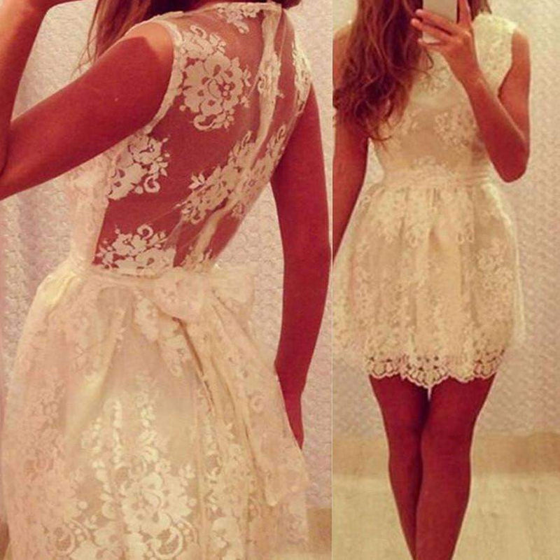 New Arrival lace simple elegant cute freshman graduation formal homecoming dresses, BD00169