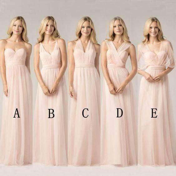 New Different Styles Pink Sweetheart Sleeveless Chiffon Prom Dress Bridesmaid Dresses
