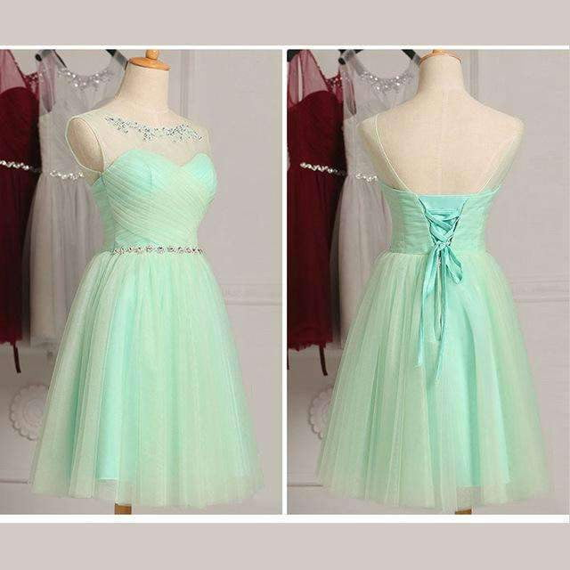 New Fashion  Women Elegant Sleeveless Tulle Short Prom Party Gown