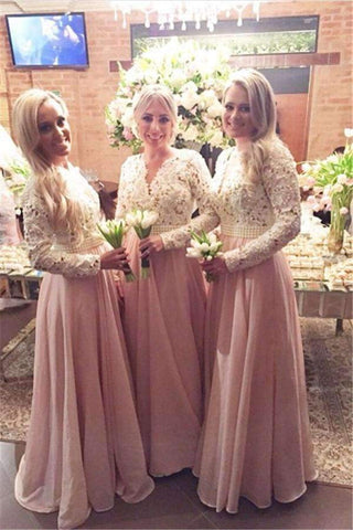 products/pink-2019-cheap-bridesmaid-dresses-a-line-v-neck-long-sleeves-chiffon-lace-pearls-wedding-party-dressesangelformaldresses-18181795.jpg