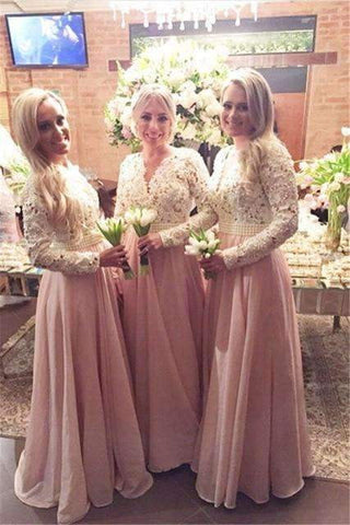 products/pink-2019-cheap-bridesmaid-dresses-a-line-v-neck-long-sleeves-chiffon-lace-pearls-wedding-party-dressesangelformaldresses-18181797.jpg