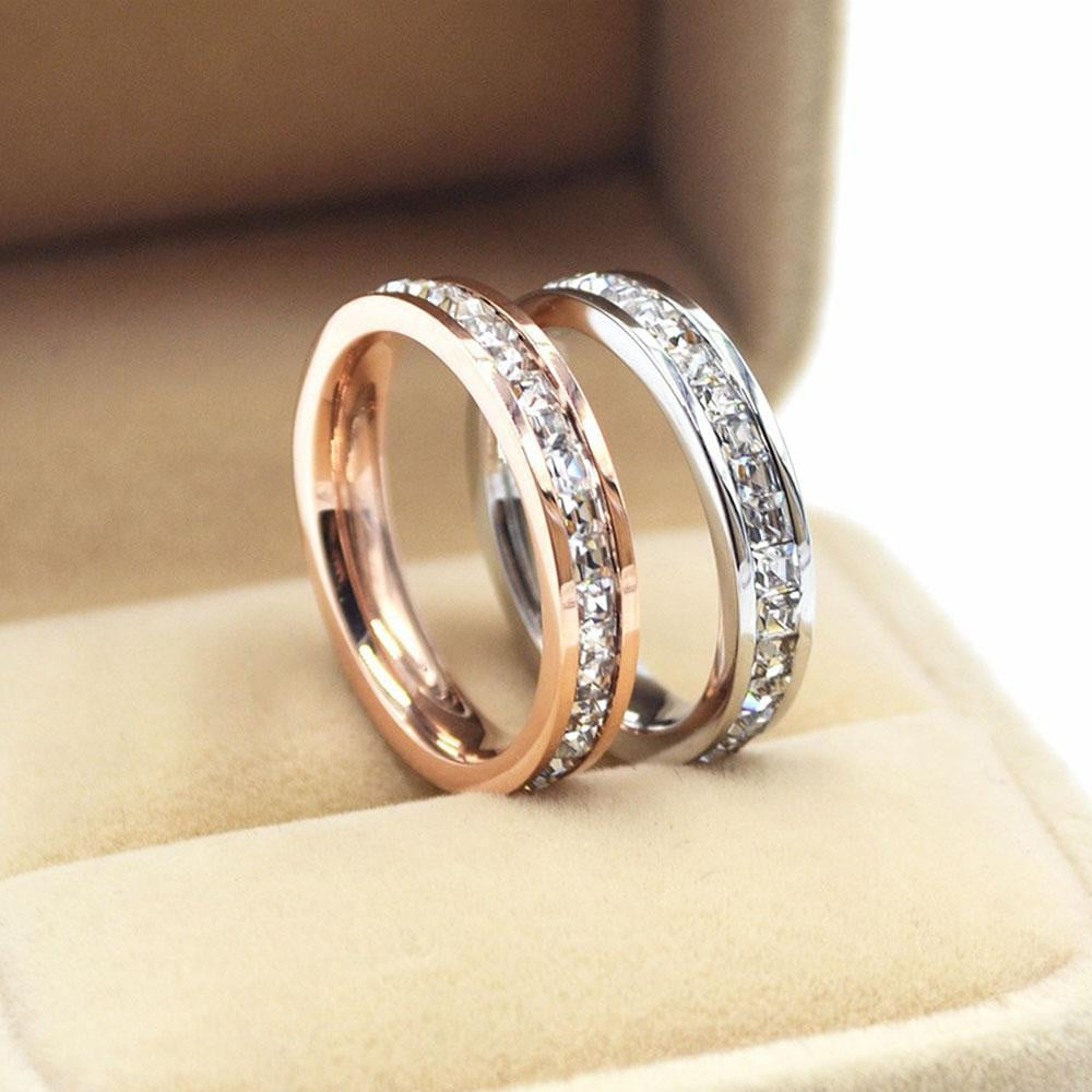 Girls Geometric Ring  Filled & Rose Gold Ring Promise Wedding Engagement Rings For Women Best Gifts