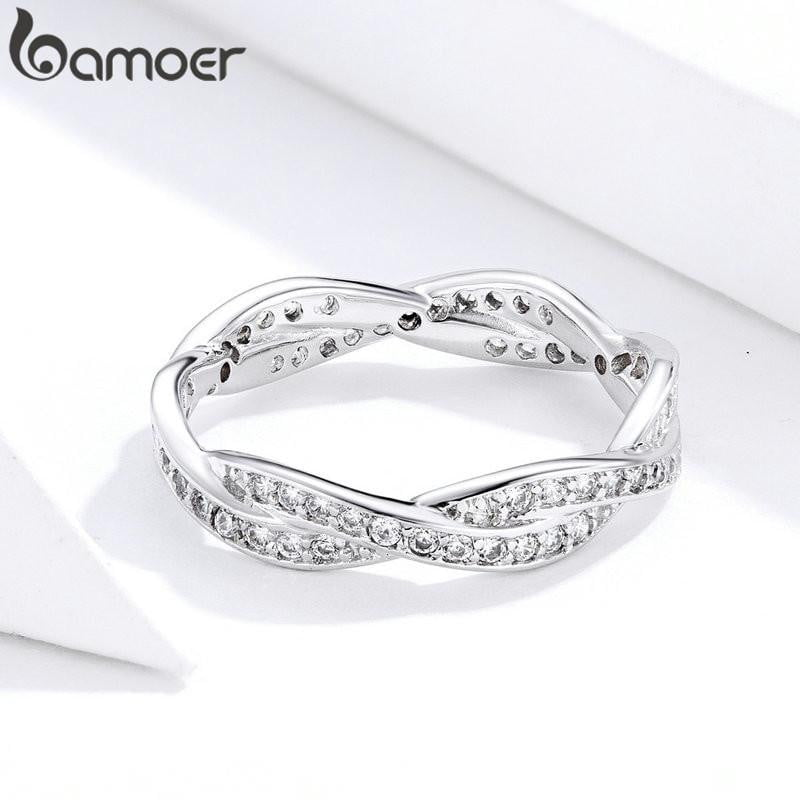 8 STYLE BRAIDED PAVE LEAVES My Princess Queen Crown SILVER RING Twist Of Fate Stackable Ring ANNIVERSARY SALE 2019