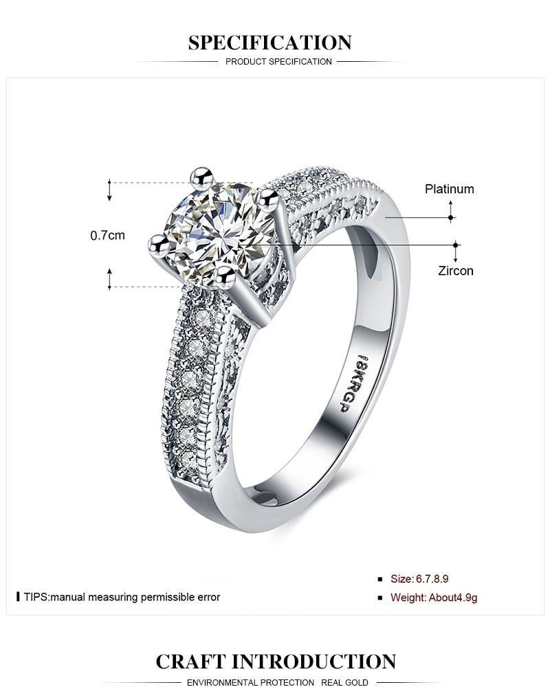 Silver color rings fashion jewelry wedding Rhinestone New Design Never fade High Quality