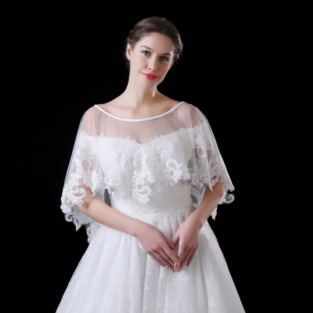 Real Model Ivory Lace Wedding Jacket Bridal Bolero 2018 Hot Sale Wedding Bolero Wrap Shawl Wedding Accessories In Stock