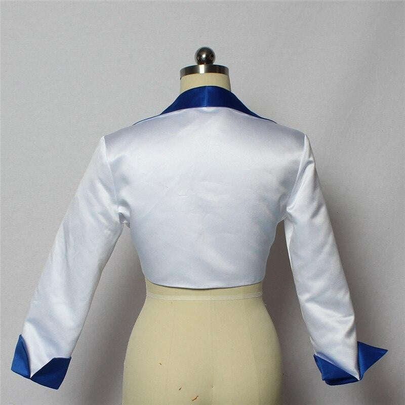 2018 High Quality Stain 3/4 Sleeve Bolero Wedding Bridal Bolero White/Blue Jacket Bridal Coat Wraps Jacket Mariage