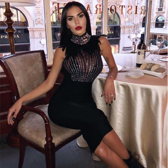 Black Short Halter Sequins Feathers Cocktail Dresses 2019 Party Graduation Homecoming Women Sexy Prom Robe Semi Formal Dress