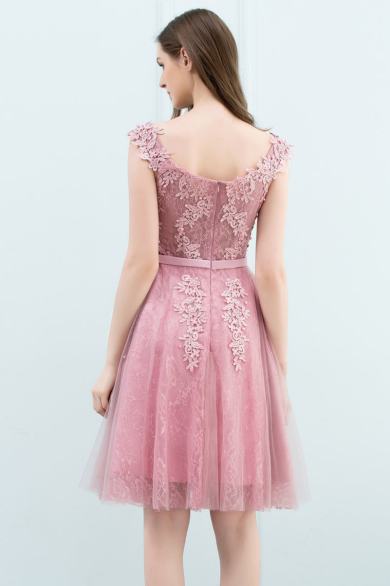 2020 Special Sale Short Prom Dress Party Cocktail Dresses Tulle Applique with Pearls robe de cocktail robes courte de cocktail