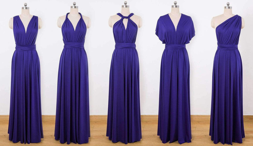 Purple Multiway Wrap Dress,Infinity Dress,Convertable Bridesmaid Dress