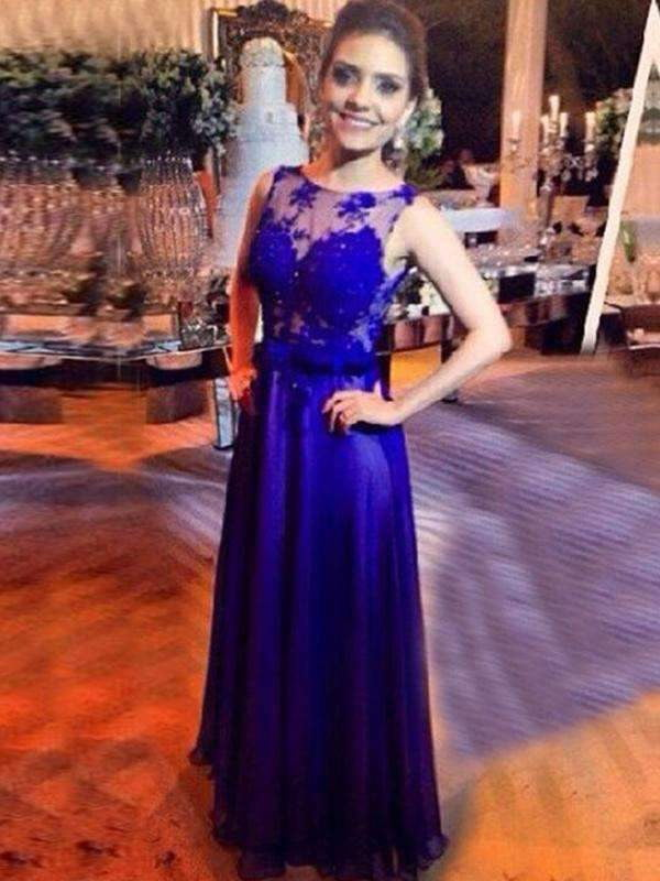 Royal Blue Lace Elegant For Teens Open Back Evening Prom Gown Dresses .PD260