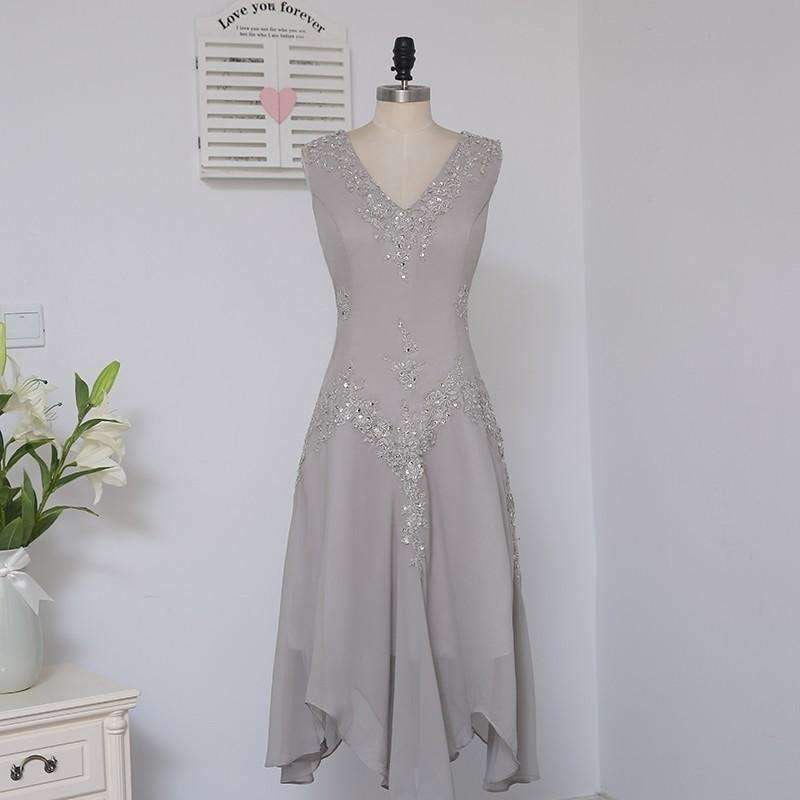 Sheath Ankle Length Silver Appliques With Jacket Mother Dresses Evening Dresses For Weddings