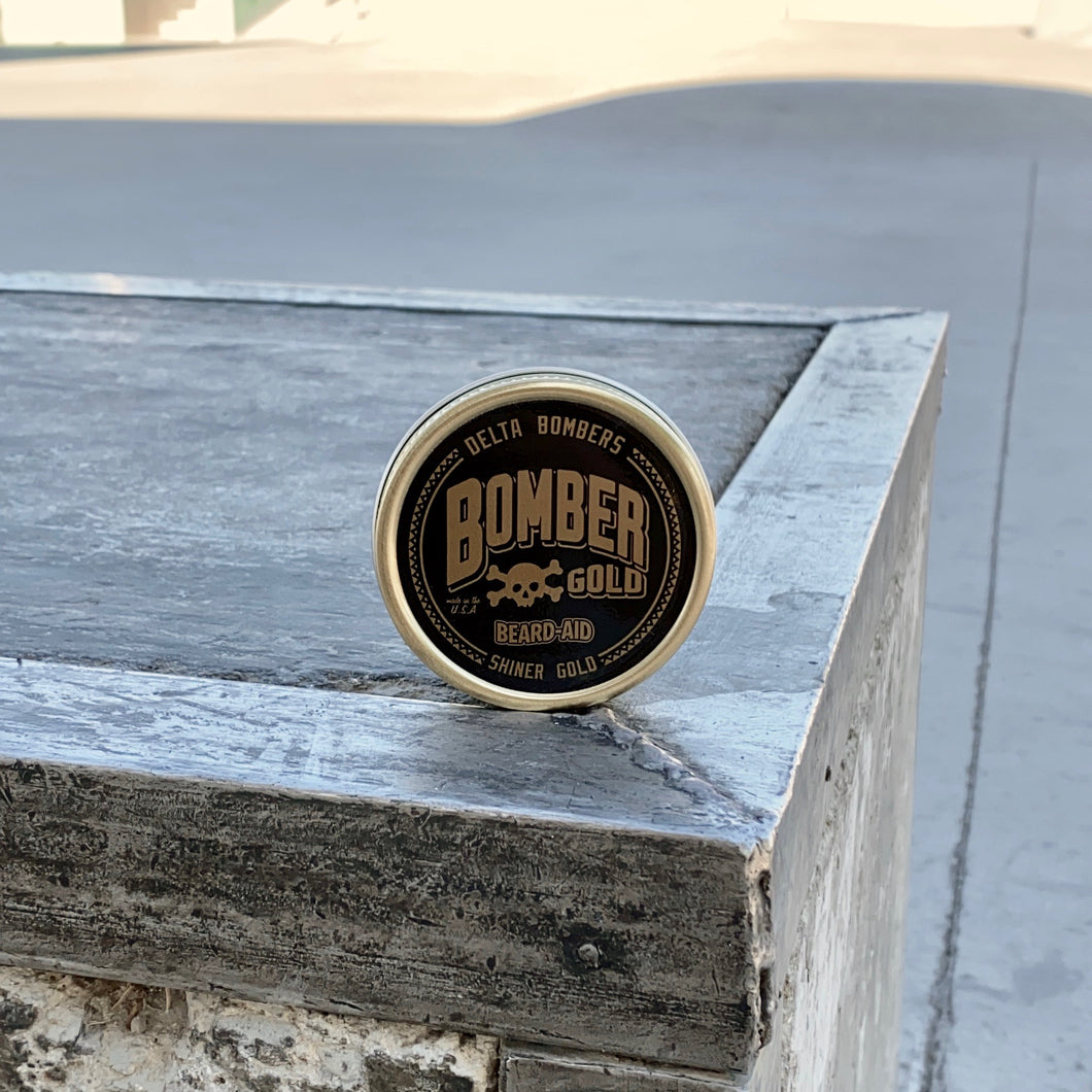 Limited Edition Bomber Gold Beard Balm by Shiner Gold x Delta Bombers