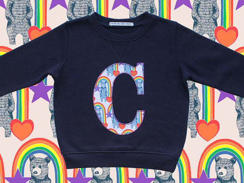 Kids 'C' Bear Print Sweatshirt (SAMPLE) age 3