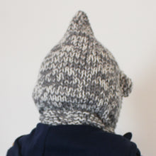 Load image into Gallery viewer, SALE BEAR BALACLAVA grey & cream