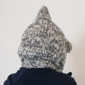 SALE BEAR BALACLAVA grey & cream