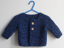 Load image into Gallery viewer, SALE Hand knitted Cardigan - Navy and blue