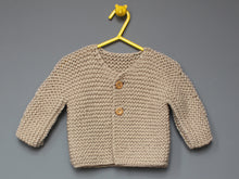 Load image into Gallery viewer, Hand knited Cardigan - Ecru