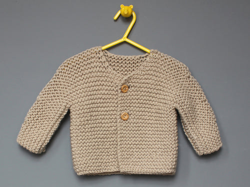 Hand knited Cardigan - Ecru