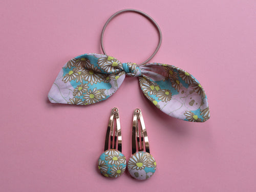 Hair Accessories - Koala Print Blue