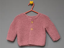 Load image into Gallery viewer, Hand knited Cardigan - Pink