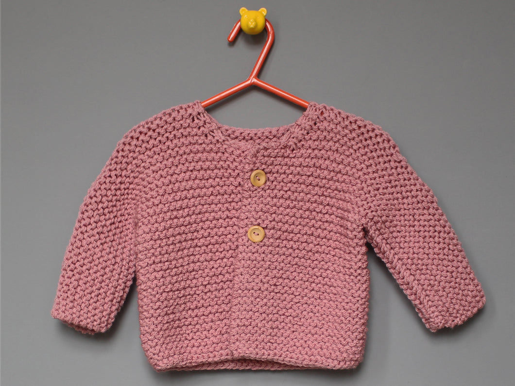Hand knited Cardigan - Pink