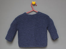 Load image into Gallery viewer, SALE Hand knited Cardigan - Denim blue