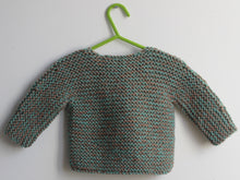 Load image into Gallery viewer, SALE Hand knitted Cardigan - green and taupe