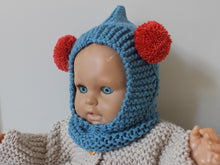 Load image into Gallery viewer, POM POM BALACLAVA - BLUE