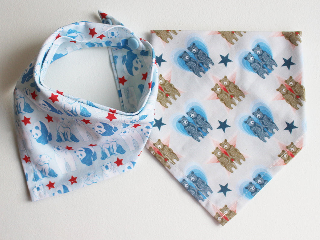 NECKERCHIEF BIB SET - Blue bears