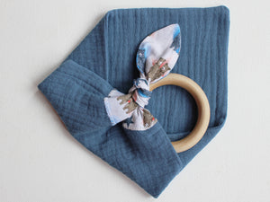 PERSONALISED TEETHING RING - BLUE