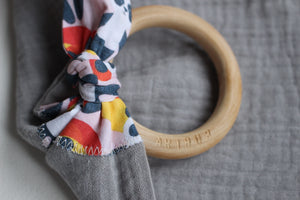 MUZZY TEETHING RING - GREY