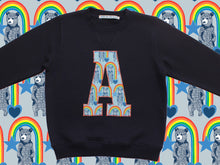 Load image into Gallery viewer, INITIAL SWEATSHIRT - BLUE RAINBOW PRINT
