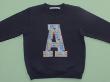 Load image into Gallery viewer, INITIAL SWEATSHIRT - RAINBOW PRINT BLUE