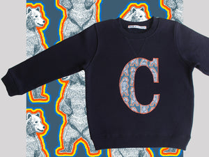 INITIAL SWEATSHIRT - Grizzly bear print