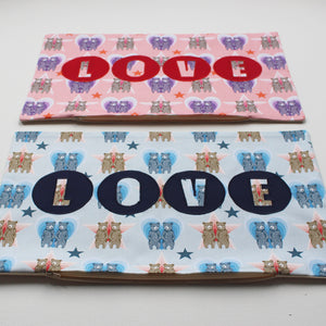 SAMPLE SALE BEAR PRINT 'LOVE' CUSHION COVER