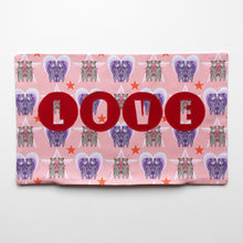 Load image into Gallery viewer, SAMPLE SALE BEAR PRINT 'LOVE' CUSHION COVER