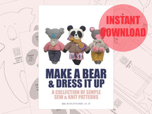 Load image into Gallery viewer, Make a Bear & Dress it up - Download version