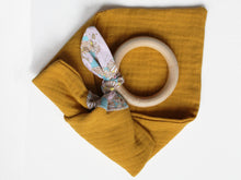 Load image into Gallery viewer, PERSONALISED TEETHING RING - MUSTARD